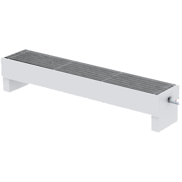 Напольный конвектор Varmann MiniKon Комфорт KFV 235.130.1000, напольный монтаж на готовый пол со встроенным термоклапаном