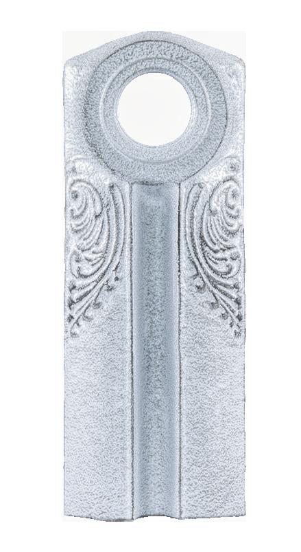 Античное серебро белое / Черный C1 / PBK