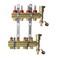 Коллекторы Danfoss FHF-4F set для 4 контуров, с преднастройкой и расходомерами, в комплекте с двумя автоматическими воздухоотводчиками и кронштейнами, арт. 088U0724