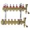 Коллекторы Danfoss FHF-7F set для 7 контуров, с преднастройкой и расходомерами, в комплекте с двумя автоматическими воздухоотводчиками и кронштейнами, арт. 088U0727