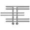 """Водяной полотенцесушитель Терминус """"Диана"""" 32/20 П6,  м/о 100, 416х908"""