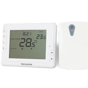 Беспроводной программируемый комнатный термостат TEPLOCOM TS-Prog-2AA/3A-RF