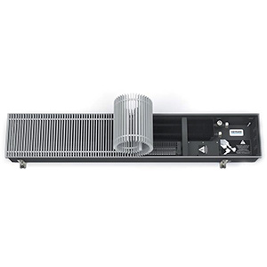 Встраиваемый в пол конвектор с вентилятором VARMANN Qtherm 230.75.1750, решетка анодированная (серебристая)