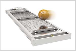 Исполнение панелей для спортивных залов.