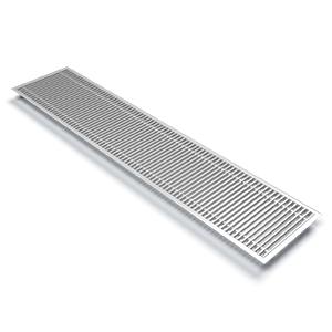Varmann Roste декоративная решетка без декоративной рамки ширина 100 мм, андоированная в цвет алюмиия 1 п м