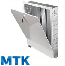 Шкаф распределительный встраиваемый МТК ШРВ-5, для коллектора до 16-ти отводов, 670х125х1044